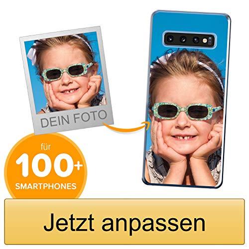 Coverpersonalizzate.it Handyhülle für Samsung Galaxy S10 Plus mit Foto-, Bildern- oder Text selbst gestalten- Die Handyhülle ist aus weichem transparentem TPU-Silikon-Gel Material