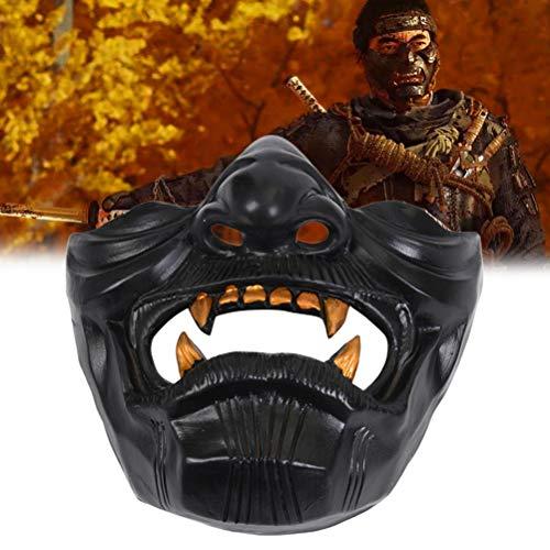shenruifa Lustiger Ghost of Tsushima Maske, Neuheit Cosplay Spielcharakter Weihnachten Karneval Maskerade Party Dekorationen Requisiten Masken für Männer & Frauen
