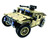 Bo-Toys R/C Military SUV Building Bricks Radio Control Toy, 502 Pcs Off Road car Kit with USB Rechargeable Battery, Construction Build It Yourself Toys