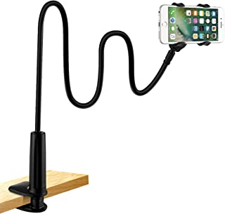 Soporte para teléfono móvil, lonzoth Teléfono Móvil Soporte Cuello de cisne Soporte universal Soporte para iPhone Smartphone Teléfono Móvil (Phone Stand|Black)