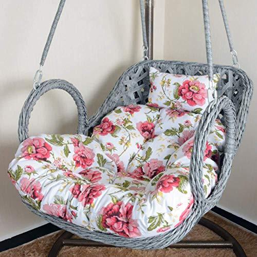 Columpio Colgante Silla Cojín Cojines para columpios, espesar, extraíble, nido de huevos, cojín para silla, sillón reclinable individual, cojín de mimbre, mimbre, cesta colgante, silla, cojín sin sop