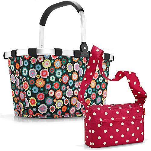 reisenthel carrybag mit Zugabe Einkaufskorb Einkaufstasche Korb (Happy Flowers)