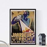 Nacnic Vintage Poster Poster Art Deco Utrecht. A4-Format