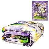 Unicorn Castle Queen Size Plush Raschel 'Mink' Blanket 79x95 Signature Collection