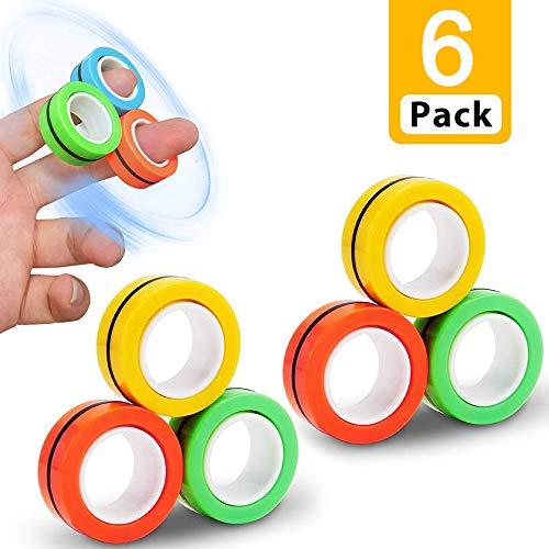 Magnetringe Anti-Stress-Fingerring,magische Ring-Requisiten,Magnetic Ring,Magnetic Ring Toy,Magnetischer Armbandring Spielzeug,Dekompressionsspielzeug,buntes Fingerspielzeug für Erwachsene und Kinder