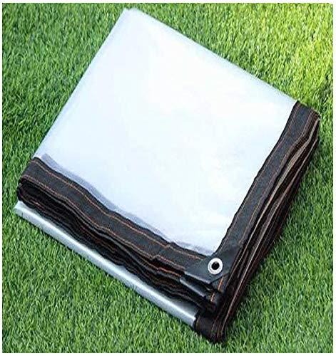 NENGGE Lona Impermeable Transparente Resistente al Polvo a Prueba de Lluvia Lona Transparente con Ojales Prueba de Viento para Plantas Invernadero Pet Hutch Roof Lona,B,2×2m/6.6×6.6ft