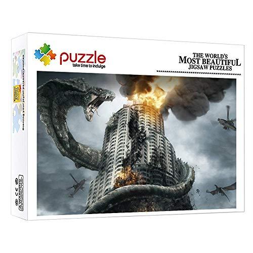 1000 Piezas Puzzles Puzzle Infantil Para Adultos Niños Puzzles 1000 Piezas Regalo De Cumpleaños Para Regalo De Año Nuevo De Vacaciones De Invierno 15 X 10 In Animal Serpiente Gigante Edificio Mansión