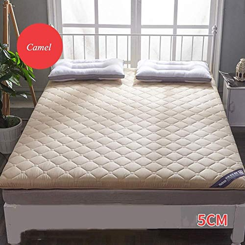 J-Kissen Verdicken Tatami Kissen Matratze, atmungsaktiv Roll Up Tatami-Boden-Matte, japanische Futon-Matte, Nicht-Rutsch-Schlafen Matratze Pad Kissen (Color : E, Size : 90x200cm(35x79inch))