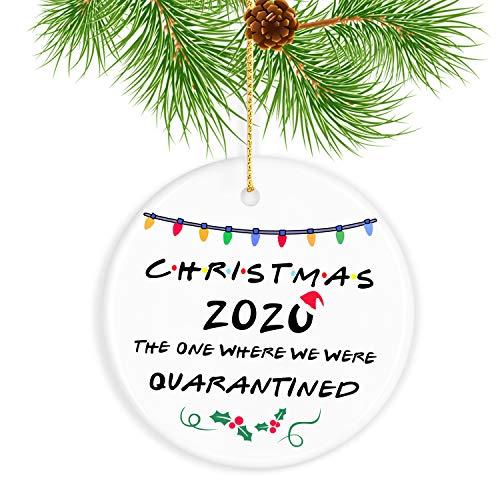 HAWEN 2020 Christmas Ornament Christmas Tree Pendant Ceramic Handicraft Gift Country Rustic Venue Christmas Decorations Handicraft Decoration Creative Decorations Ornaments Christmas Pattern