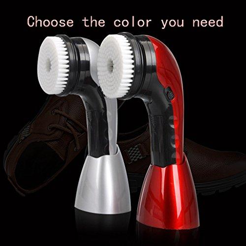 Limpiador de Calzado eléctrico Limpiador de Calzado automático multifunción portátil MXJ61 (Color : La Plata)