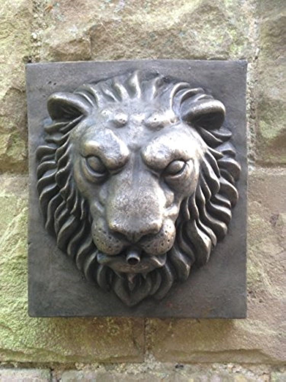 Artstone Handmade Outdoor Garden Sculpture Bronze Resin Lion Block Water Fountain Feature