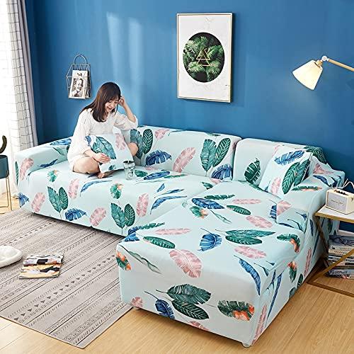 WXQY Fundas de impresión 3D Fundas de sofá elásticas elásticas Protección para Mascotas Funda de sofá Esquina en Forma de L Funda de sofá con Todo Incluido A24 4 plazas