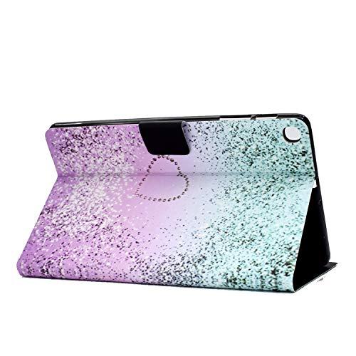 CaseFun Samsung Galaxy Tab A 10.1 2019 T510/T515 Hülle PU Leder Tasche Cover Schutzhülle Schale Etui mit Standfunktion Glitter Flüssiger Sand