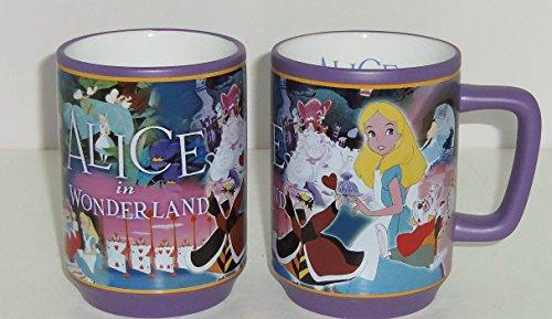 Tienda Disney de Alicia en el país en la película con gotas de café taza de diseño de pantalla
