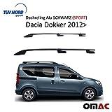OMAC Dachreling Alu SCHWARZ (Sport) für Dokker 2012-2020 mit TUV ABE