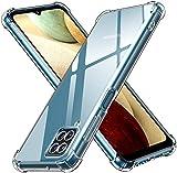 ivoler Funda para Samsung Galaxy A12 / Samsung Galaxy M12, Carcasa Protectora Antigolpes Transparente con Cojín Esquina Parachoques, Flexible Suave TPU Silicona Caso Delgada Anti-Choques Case Cover