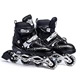 Dayons Adjustable Length Inline Skates Aluminum Body in-Line Skates for Boy and Girls