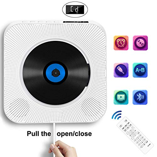 Portable CD Player with Bluetooth, Wall Mountable...