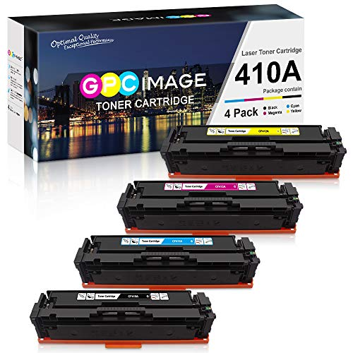 GPC Image 410A CF410A- compatibele tonercartridge vervanging voor HP 410A CF410A 410X CF410X voor HP Color LaserJet Pro M477fdw M477fnw M477fdn M452nw M377dw M452dn M452dw M477dw M477nw Printer,4 Pack