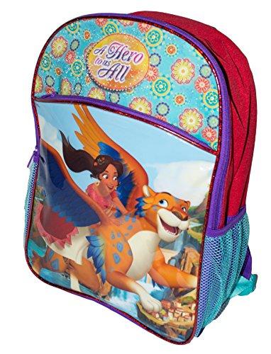 Colorful Princess Elena of Avalor School Bag Backpack, Girls School Bagpack (Flying Jaquin with Elena)