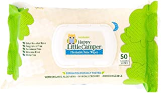 Happy Little Camper x Hilary Duff Gentle Hypoallergenic and Dermatalogically Tested Natural Flushable Septic Safe wipes wi...