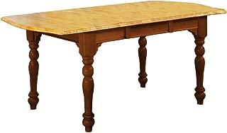 Sunset Trading Oak Selections Dining Table, Medium Walnut Light Finish