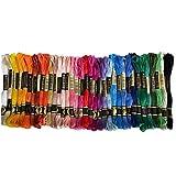 tJexePYK 36 Colores Seda del Bordado de algodón de Colores del Hilo Conjunto de Punto de Cruz Hilo de Bordado Artesanal