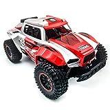 BAOZUPO RC Cars Remote Control Car for Boys 2.4 GHz Auto da Corsa ad Alta velocità, 1:12 Camion RC Fuori Strada con fari, Auto elettrica Giocattolo Rock (Color : Rosso)