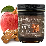 Hearth and Pantry Holiday Apple Butter Spread - Gingerbread Apple Fruit Butter - Gluten Free - All-Natural Ingredients - Fantastic Apple Butter Gift - 9 Ounce Jar