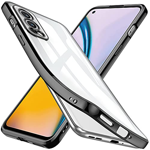 GESMATEK Funda Compatible con OnePlus Nord 2 5G GT Funda de teléfono de Silicona TPU Suave, Duradera, a Prueba de Golpes, Resistente a los arañazos. Negro.