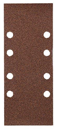 kwb Quick-Stick Schleifpapier – für Schwing-Schleifer K 40, K 80, K 240, für Holz und Metall, 93 mm x 230 mm, Korund, gelocht Typ-B (30 Stk.)