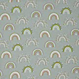 Hans-Textil-Shop Stoff Meterware Rainbow Flanell Baumwolle