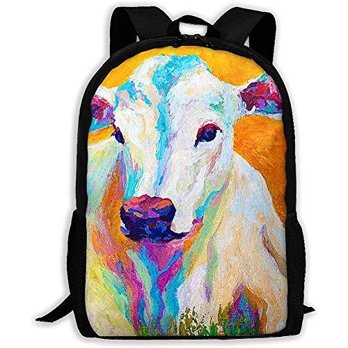 Lässige Schultasche Farm Animal Cow mit schönen Farbe Rucksack Frauen 3D Print Daypacks für Männer