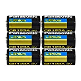 panasonic lithium battery cr 123a - Panasonic CR123 CR123A 3V Lithium Battery (6 Pack)