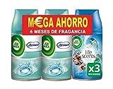 Air Wick Freshmatic Ambientador de Recambio Olor Nenuco y Oasis Turquesa - Pack de 3 x 250 ml - Total 750 ml