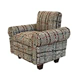 Inusitus Dollhouse Sofa Chair - Miniature Dolls House Furniture Arm Chair Couch - Retro Beige Pattern - 1/12 Scale