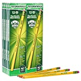 TICONDEROGA Pencils, Wood-Cased, Unsharpened, Graphite #2 HB Soft, Yellow, 96-Pack (13872)