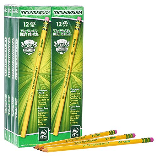 96 Pack Pencils, Wood-Cased, Unsharpened, Graphite #2 HB Soft, Yellow $10.28 (68% OFF)