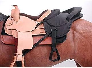 Tough 1 Ride - Behind Tandem Saddle for Western Saddle, Black
