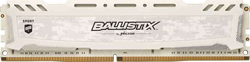 $76 » Crucial Ballistix Sport LT 3000 MHz DDR4 DRAM Desktop Gaming Memory Single 16GB CL15 BLS16G4D30AESC (White)