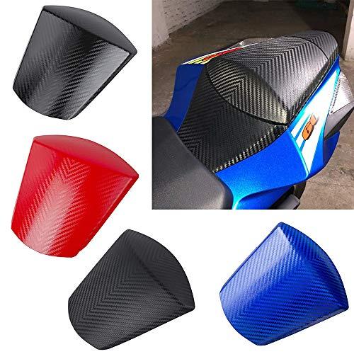 XX eCommerce Moto Carénage de capot de siège solo à motif de carbone pour les passagers arrière pour 2011-2018 GSXR GSX-R 600 750 2012 2013 2016 2015 2016 2017 (Noir mat)