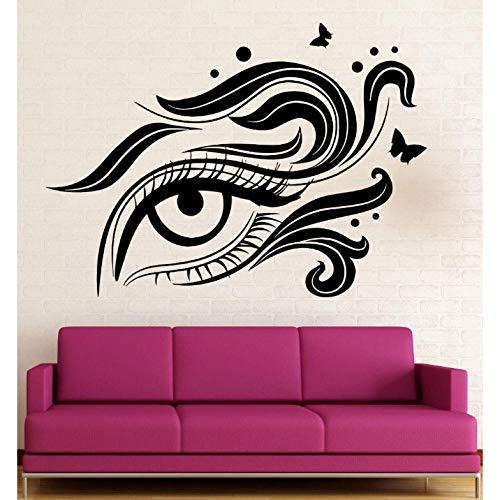 Stickers muraux Vinyle Decal Eye Maquillage Maquillage Salon de beauté Femme Femme 57x78cm