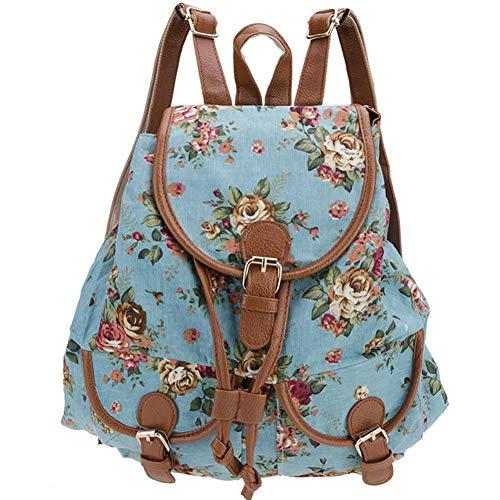 Oinna 1 mochila para mujer con personalidad, bonita mochila de lona impermeable para mujeres, antirrobo.
