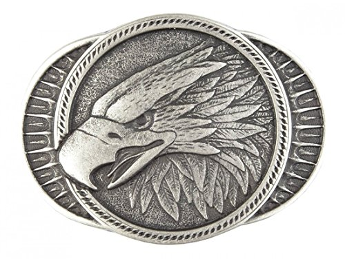 Gürtelschnalle mit Relief - Adler im Profil - Wechselschliesse in edlem Design als besonderes Geschenk