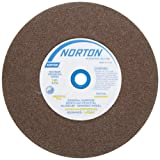 Norton Bench and Pedestal Abrasive Wheel, Type 01 Straight, Aluminum Oxide, 1' Arbor, 6' Diameter, 3/4' Thickness, Fine Grit (Pack of 1)