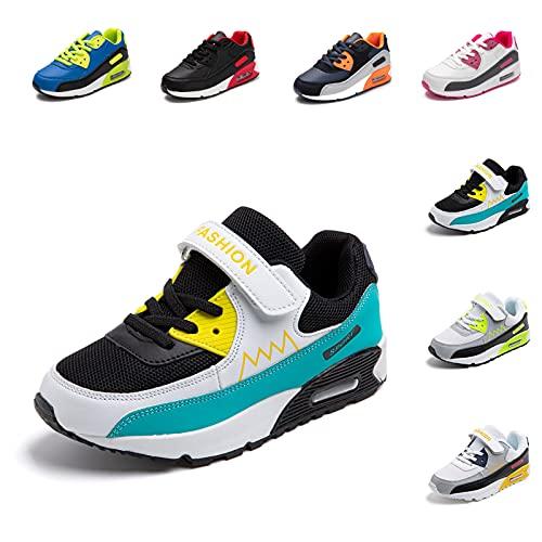ZapatillasNiño Niña Deportivas Infantil Zapato Deportivos Unisex SneakersCasual Comodos Ligeras TranspirablesZapatos de CorrerAzul 32 EU