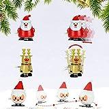 TANCUDER 8 Stücke Kinder Aufziehspielzeug Weihnachten Uhrwerk Spielzeug ABS Weihnachten Aufziehspielzeug Wind Up Figur Aufziehfigur Weihnachten Deko Figuren für Kinder - 4
