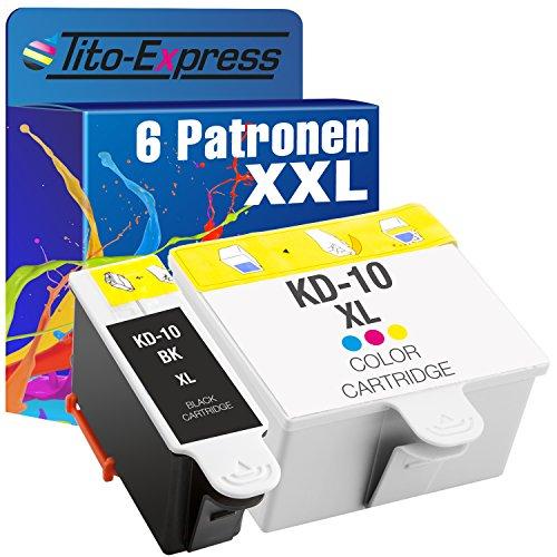 Juego de 6cartuchos de tinta para Kodak 10XL ESP 3250EASYSHARE 5100530055006150HERO 7.1HERO 9.1Hero Office 6.1platinumserie