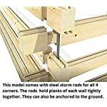 """Allwood timberline   483 sqf cabin kit 12 inside floor area: 354 sqf + loft 129 sqf wall thickness: 2-3/4"""" (70 mm) - dual t&g pattern   ridge height: 14'9"""" snow load capacity 46 lbs/sqf - for 70 lbs/sqf and 96 lbs/sqf values see asin:b07ty5msy8"""