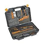 Taladro 246 piezas y Drive Juego de brocas HSS con titanio recubierto Bits y la caja de almacenamiento para la perforación de metal, mampostería, madera y plásticos Accesorios